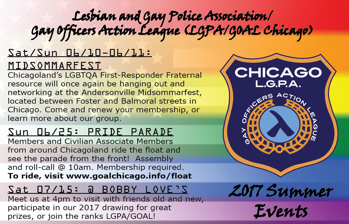 LGPA/GOAL Summer Events Flyer